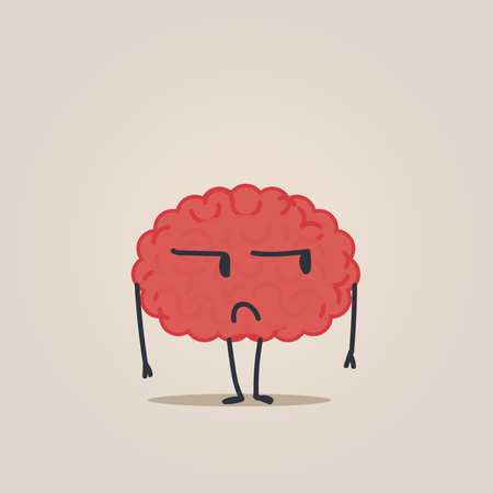 metaphors: Brain character: untrust Illustration