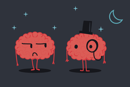 night suit: Gentlemant Brain Illustration