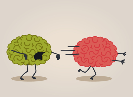 walking corpse: Brain zombie Illustration