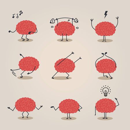blinded: Brain character Illustration