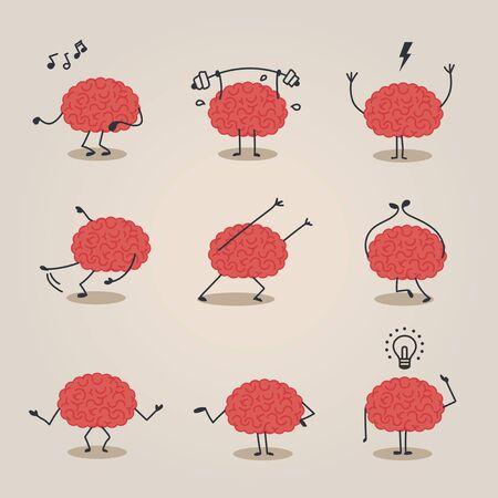Brain character Illustration