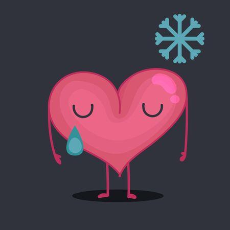 sad heart: Sad heart crying