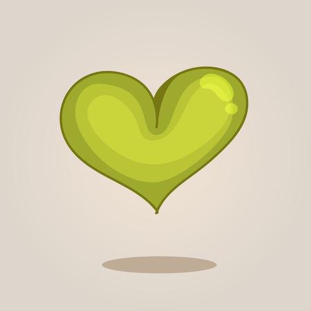 green heart: Green heart