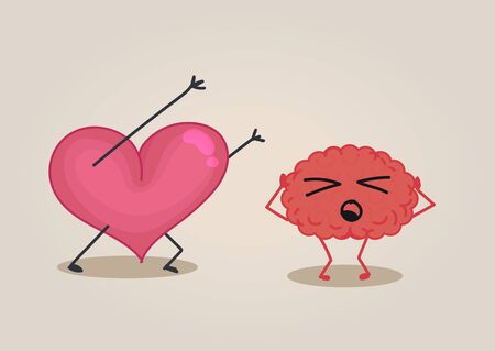 scaring: Heart scaring a brain Illustration