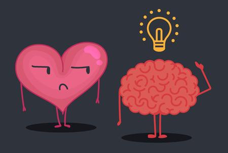 contemplate: Brain & heart characters: Idea