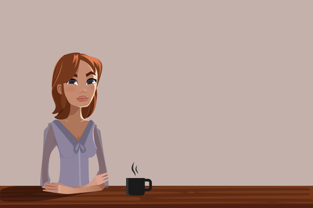 informal: Woman with a cup of coffee