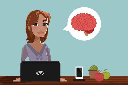 person computer: Woman & Laptop