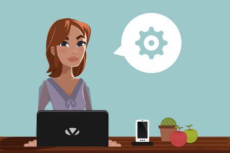 woman laptop: Woman & Laptop