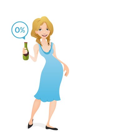non alcoholic beer: girl holding a non alcoholic beer