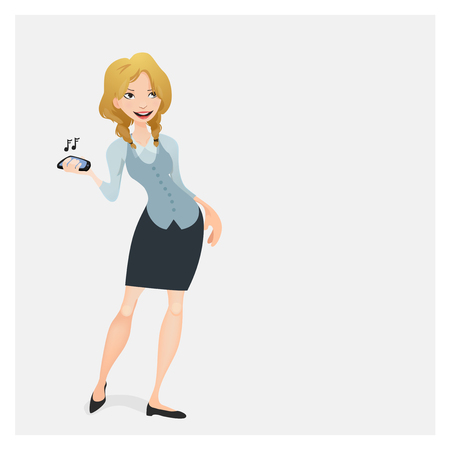 phonecall: Business woman with a mobile phone