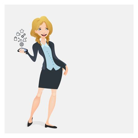 conection: Business woman with a mobile phone