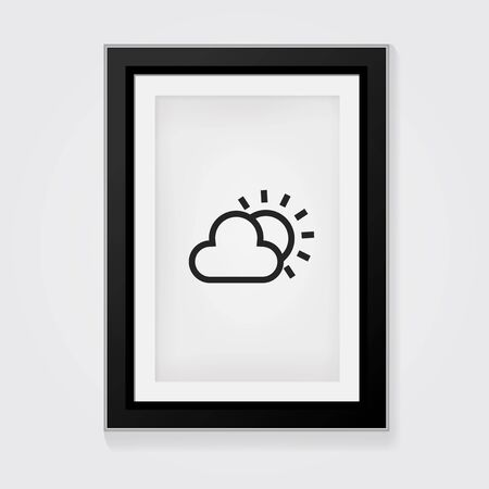 cloudy day: Vector Frame: Cloudy day