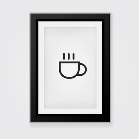 break: Vector Frame: Coffee break