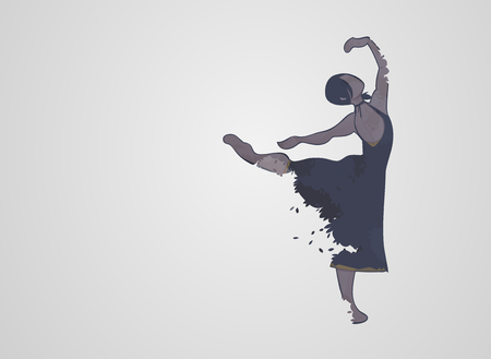 exposure: Double exposure Ballet dancer Illustration