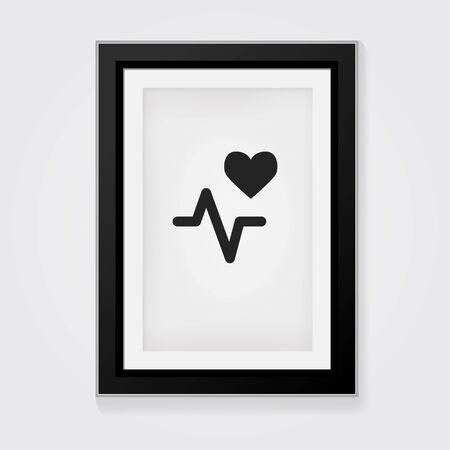 heart beat: Vector Frame: Heart beat