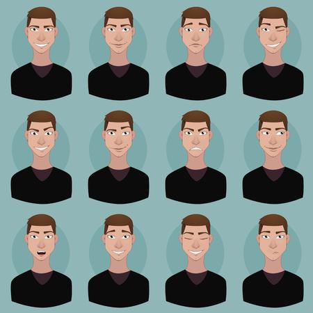 thoughtfulness: Avatar - man emotions Illustration