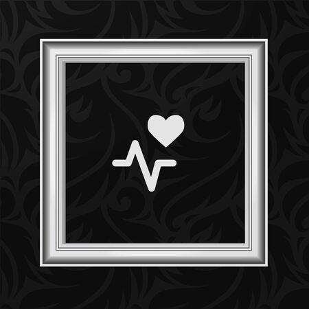 Vektor Rahmen: Herzschlag