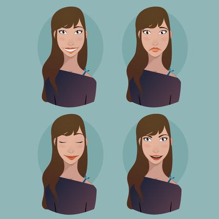 thoughtfulness: Avatar - Woman emotions