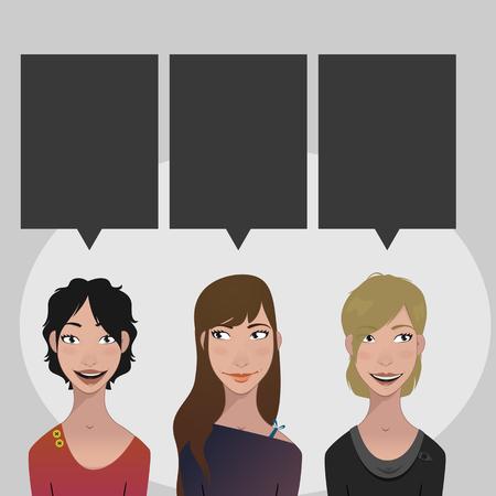 tone: Skin types - color tone Illustration