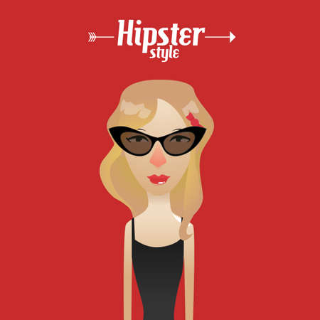 vintage fashion: Hipster Illustration