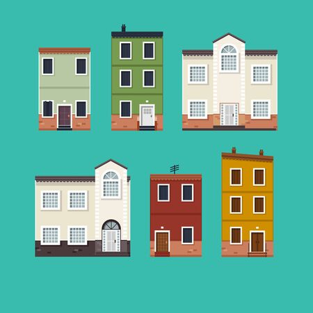 houses: Isolated Houses Illustration