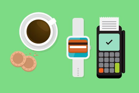 Smartwatch payment vector illustration