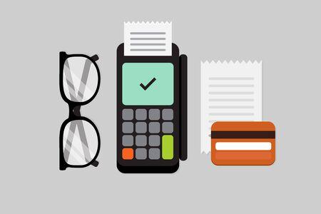 paying bills: Dataphone vector illustration