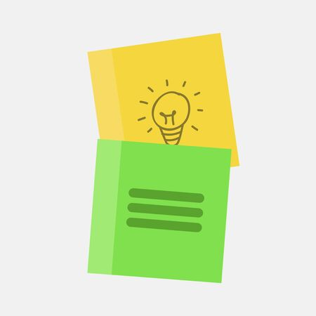 paper note: Sticky note paper vector illustration