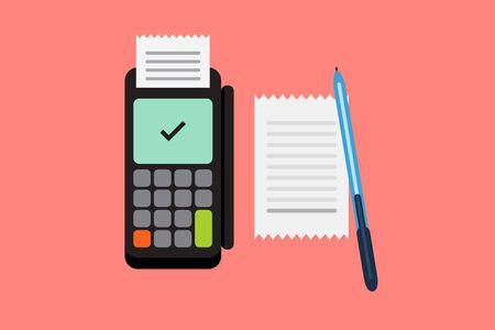 paying bills online: Dataphone vector illustration