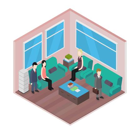 Isometric Office: Waiting room
