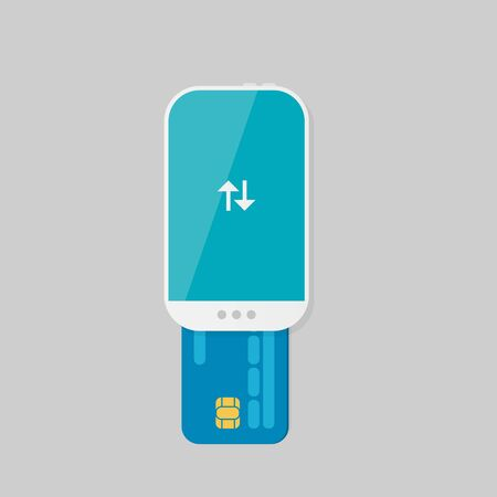 lay: Mobile Payment: Flat lay illustration Illustration