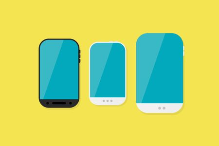 lay: Flat lay technology illustration Illustration