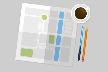 lay: Flat Lay Map illustration