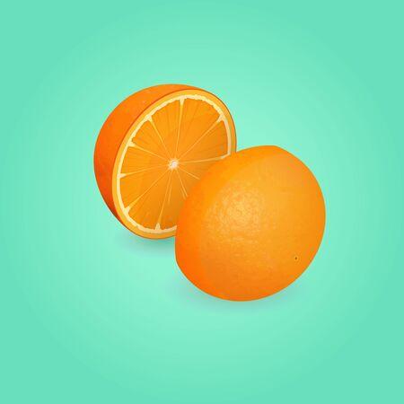 Orange illustration Illustration