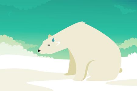 floe: Polar Bear illustration: climate change