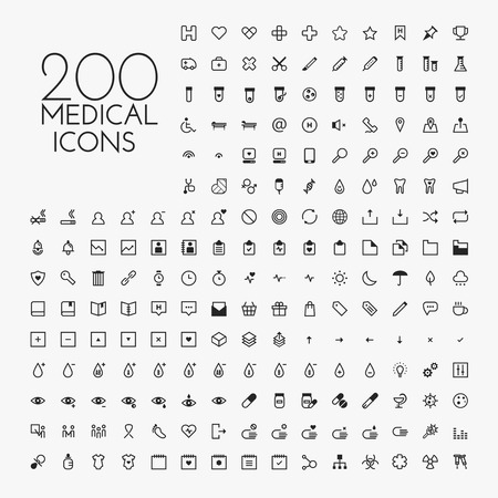 hospital icon: Healthcare & medical icon set