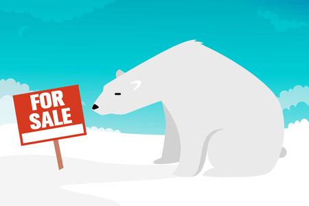 floe: North pole for sale illustration Illustration