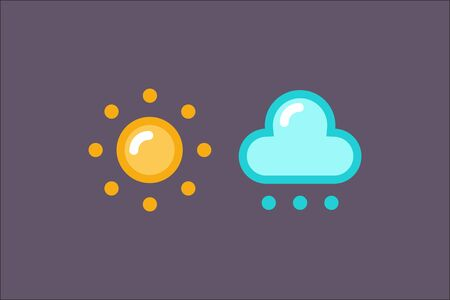 weather icon set Illustration