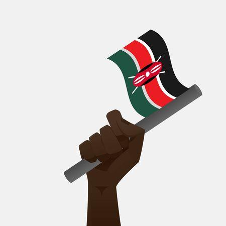 kenya: Kenya Flag Illustration