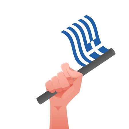 Greek flag Illustration