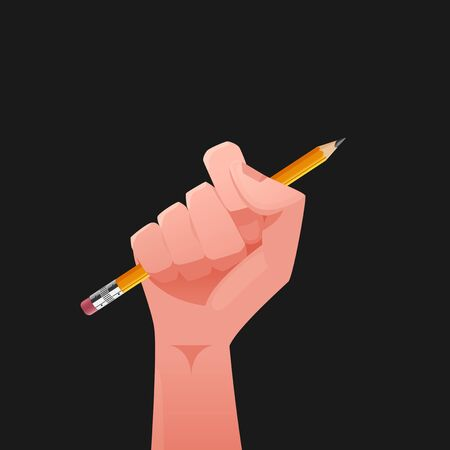 Hand & pencil illustration Illustration