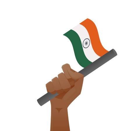 india flag illustration Illustration