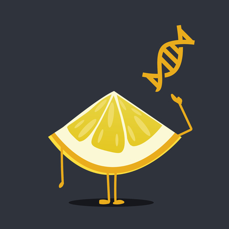 dna smile: Lemon character