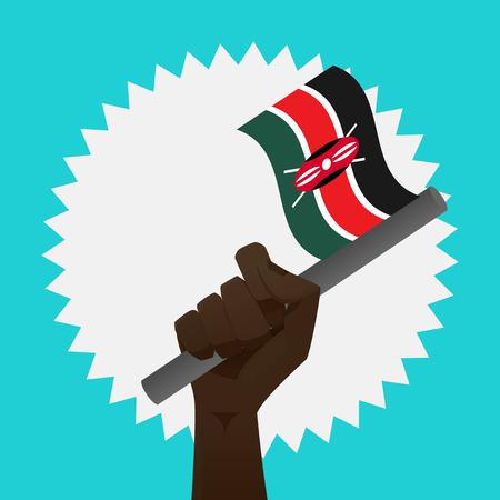 Kenya Flag 向量圖像