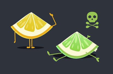 Lemon characters: Rotten lemon Illustration