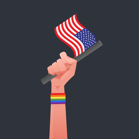 sexuality: USA Flag & Sexuality symbol