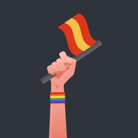 sexuality: Spanish flag & Sexuality symbol