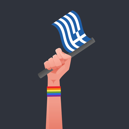 sexuality: Greece flag & Sexuality symbol