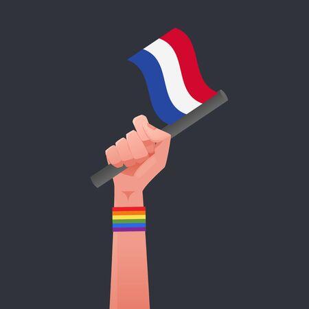 sexuality: Netherland flag & Sexuality symbol