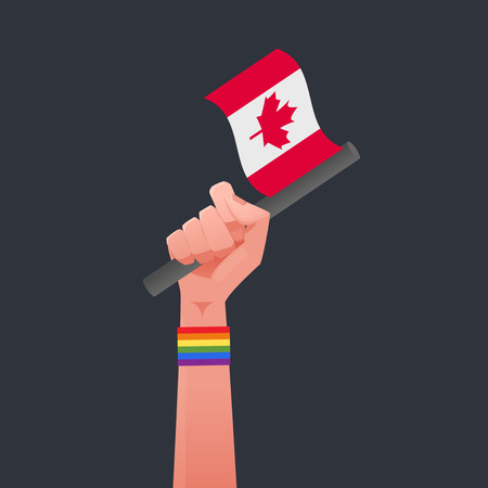 sexuality: Canada flag & Sexuality symbol